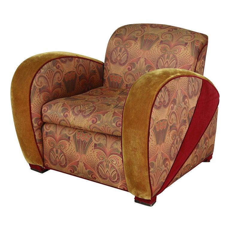 Art Deco Style Jazz Club Chair At 1stdibs