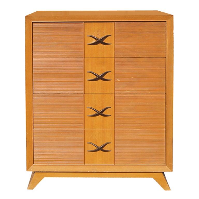 Paul Frank Bedroom In A Box: Paul Frankl Four Drawer Dresser For Brown Saltman At 1stdibs
