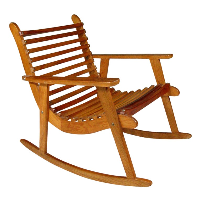Beautiful Michael Van Beuren Easy Rocking Chair, Pair For Domus 1