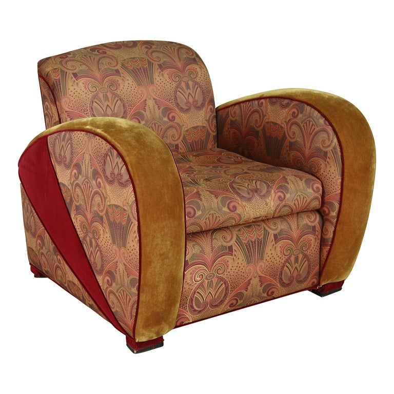 Art deco jazz club chair in the style of frankl 39 s speed chai saturday sale for sale at 1stdibs - Club deco ...