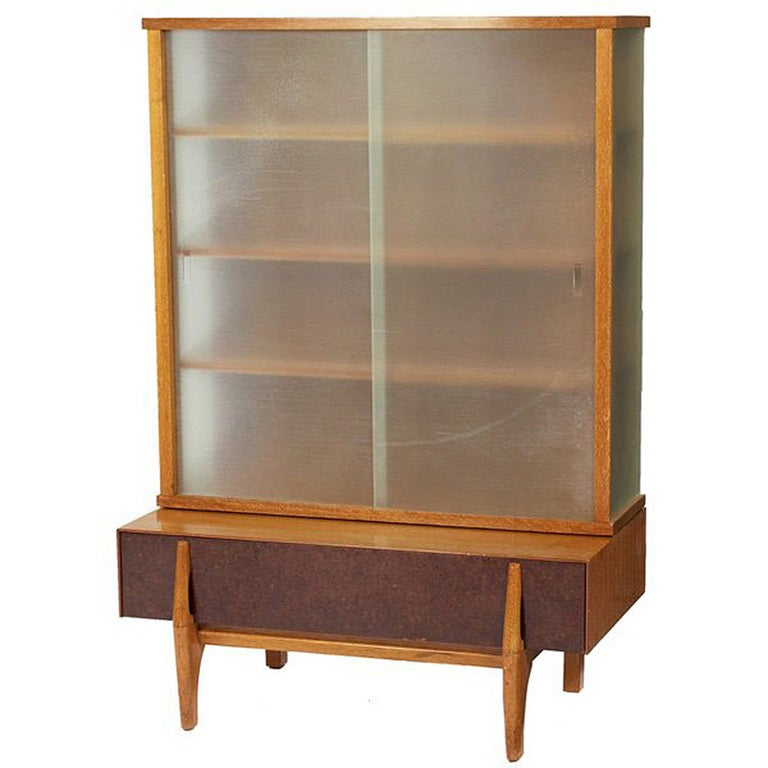 john keal wall unit vitrine with drawers for brown. Black Bedroom Furniture Sets. Home Design Ideas