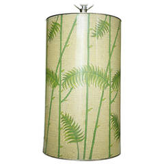 Mid-Century Enameled Cloisonné Tropical Palm Table Lamp