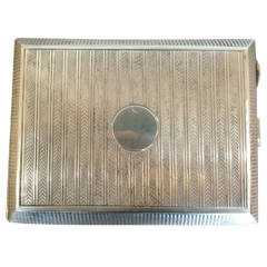 English S.J. Rose Sterling Silver Cigar Case, circa 1927