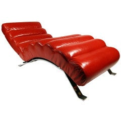 Bibendum Style Chaise Lounge in Manner of Eileen Gray