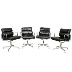 Eames Soft Pad Management Chairs for Herman Miller, Set of Four
