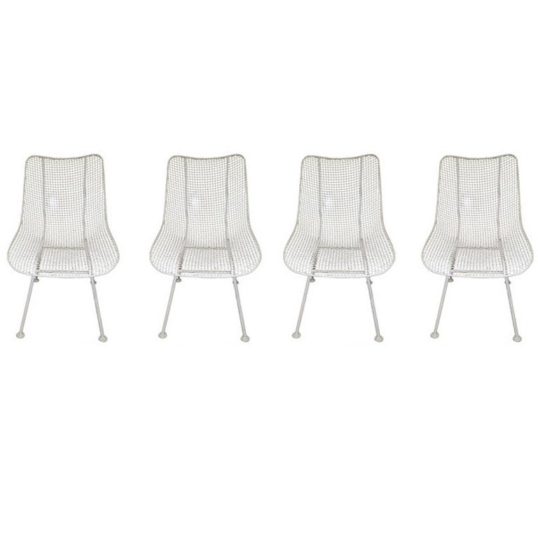 Russell Woodard Sculptura Outdoor Patio Chairs Set Of 4