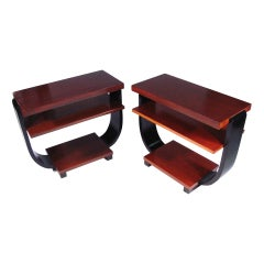 Art Deco Three-Tier Side Tables by Brown Saltman