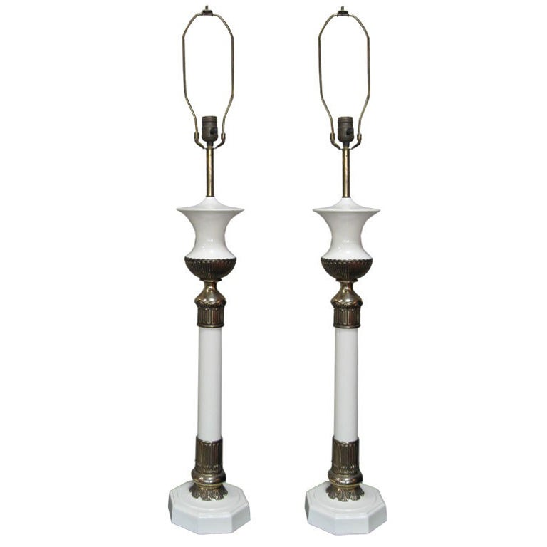 Hollywood Regency Stiffel Table Lamps, Pair