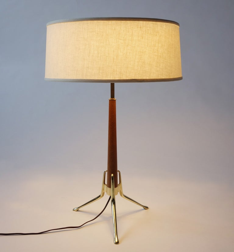 mid century lightolier table lamp by gerald thurston at. Black Bedroom Furniture Sets. Home Design Ideas