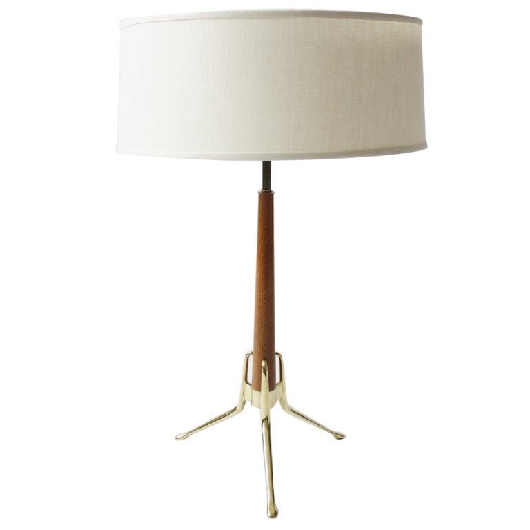 mid century lightolier table lamp by gerald thurston. Black Bedroom Furniture Sets. Home Design Ideas