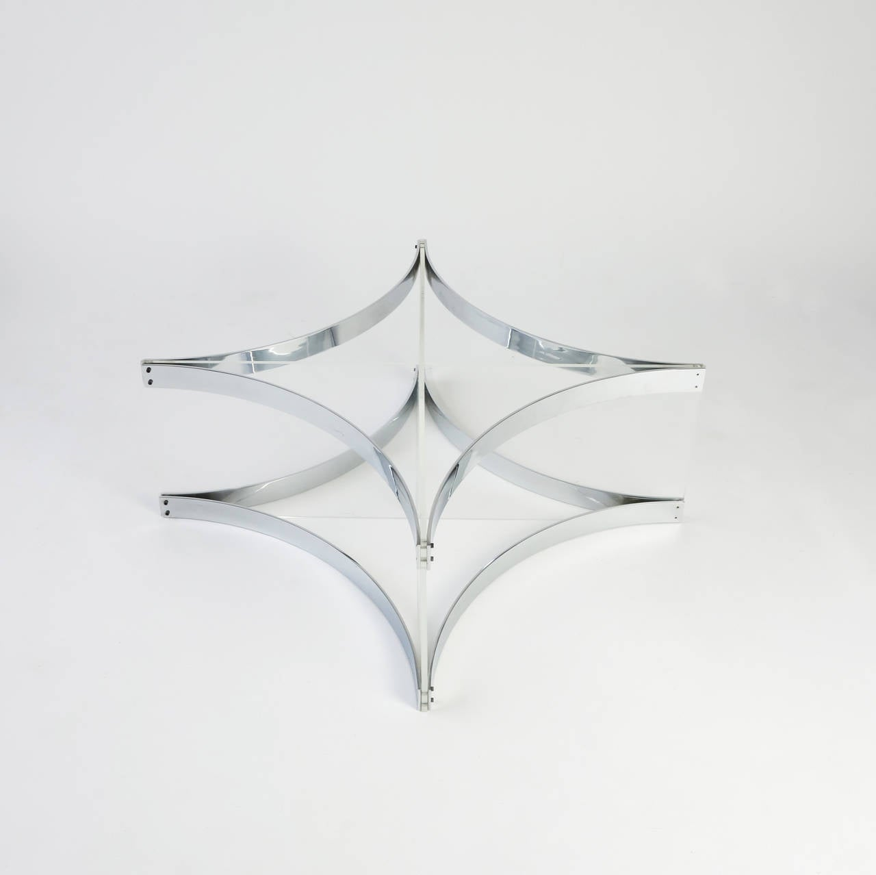 Lucite and Chrome Coffee Table by Alessandro Albrizzi In Excellent Condition For Sale In New York, NY