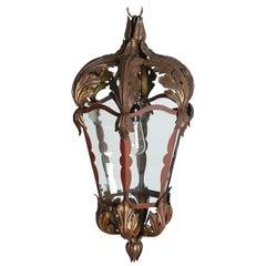 Wonderful Hand-Forged and Gilt Lantern