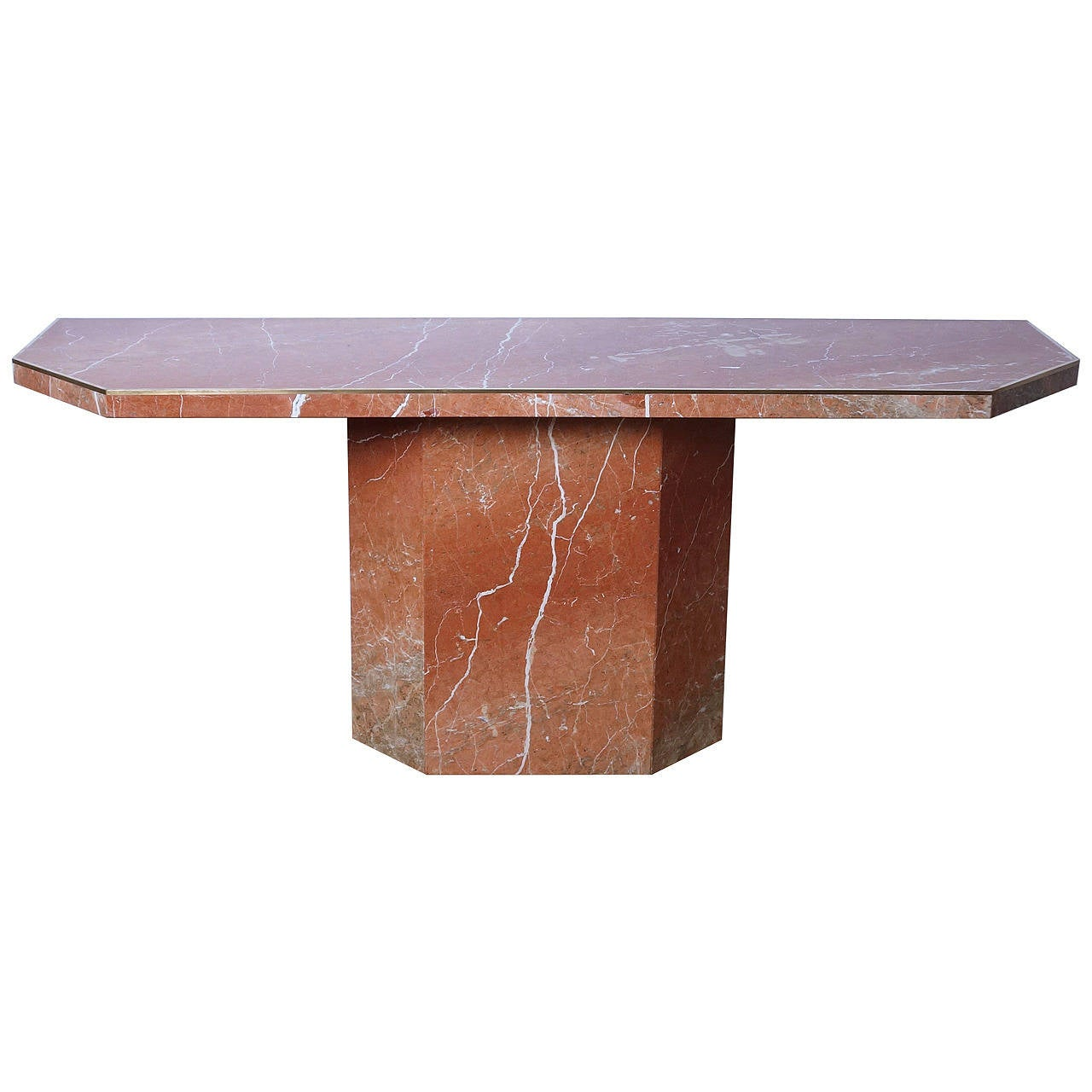 Large marble console table by willy rizzo at 1stdibs for Table willy rizzo