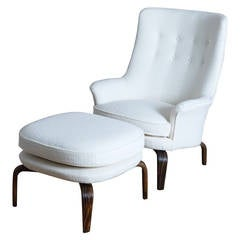 Arne Norell's Pilot Armchair with Ottoman