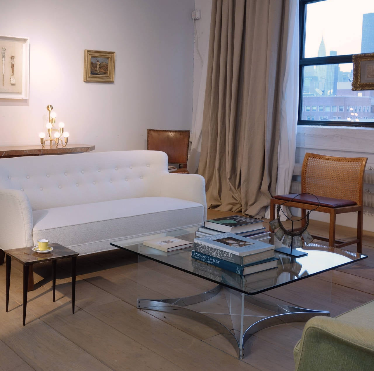 Acrylic Lucite and Chrome Coffee Table by Alessandro Albrizzi For Sale