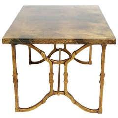 Aldo Tura Lacquered Goat Skin Side Table