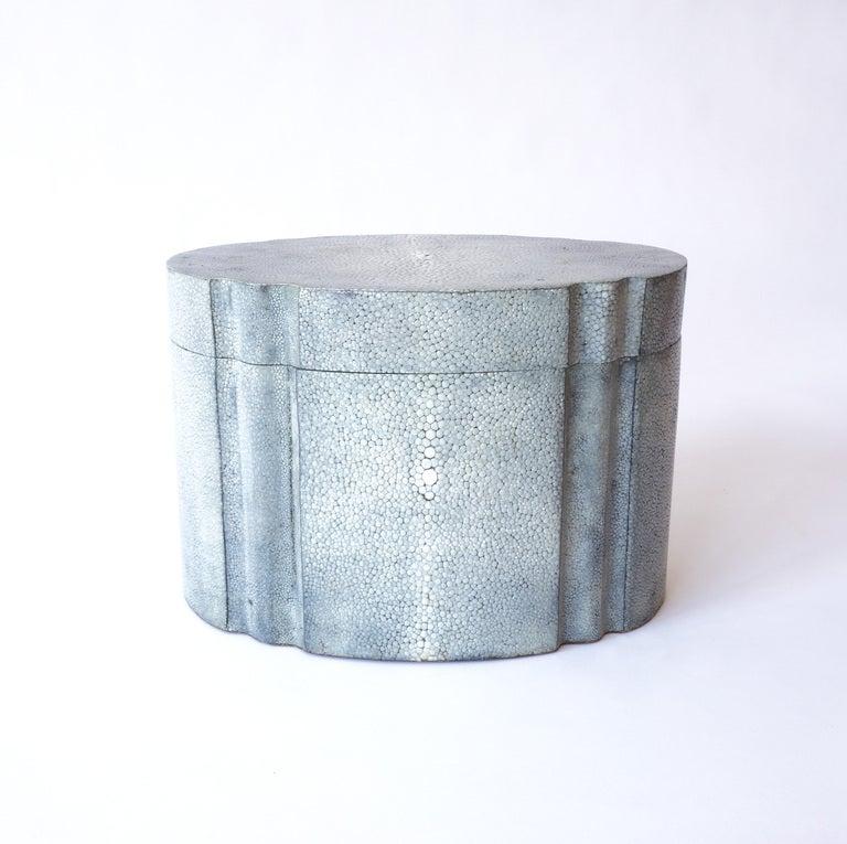 American Karl Springer Graphite Shagreen Ribbon Box