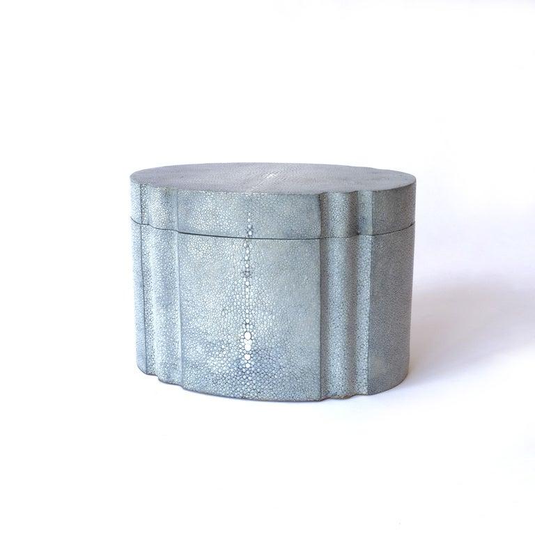 Karl Springer Graphite Shagreen Ribbon Box 1