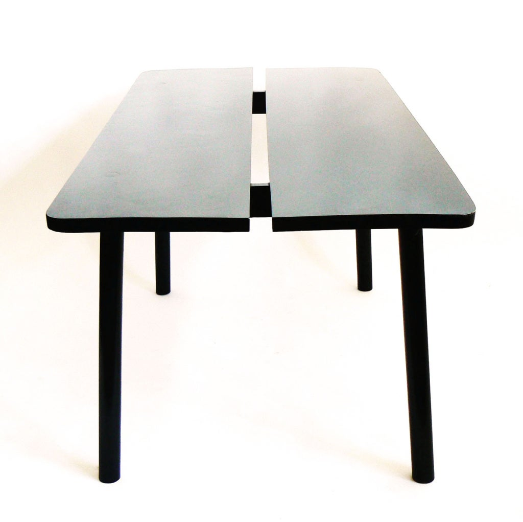 ebonized dining table by pierre gautier delaye for sale at 1stdibs. Black Bedroom Furniture Sets. Home Design Ideas