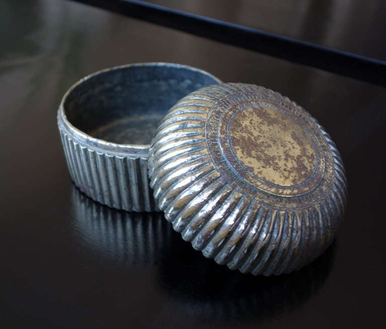 Indian Silver Pandan Box In Good Condition For Sale In New York, NY
