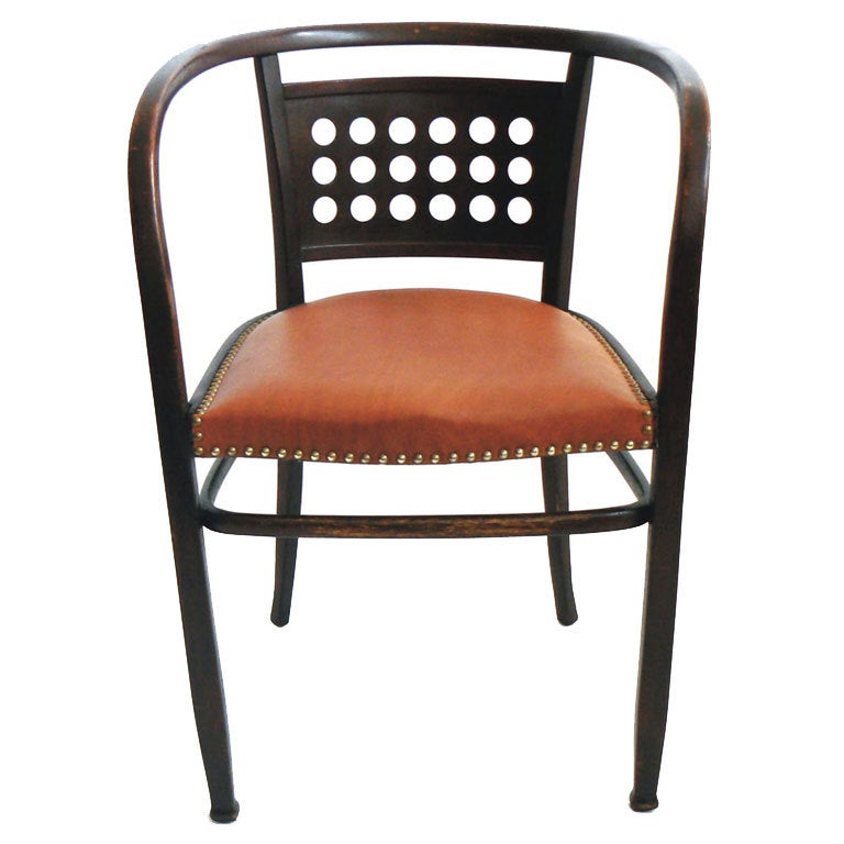 otto wagner beechwood arm chair at 1stdibs. Black Bedroom Furniture Sets. Home Design Ideas