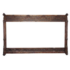 Massive Continental Carved and Giltwood Frame