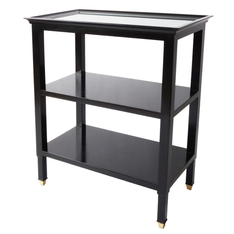Ebonized Three Tier Etagère For Sale