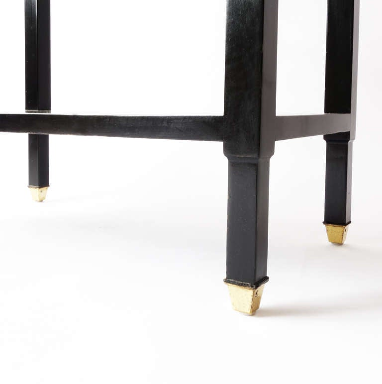 Regency Ebonized Three Tier Etagère For Sale