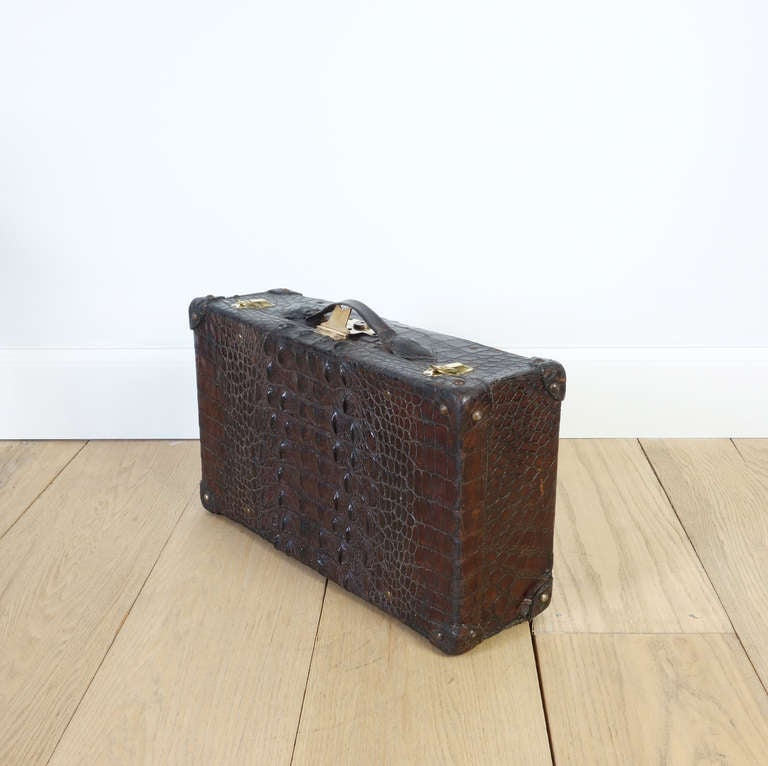 Vintage Alligator Suitcase at 1stdibs