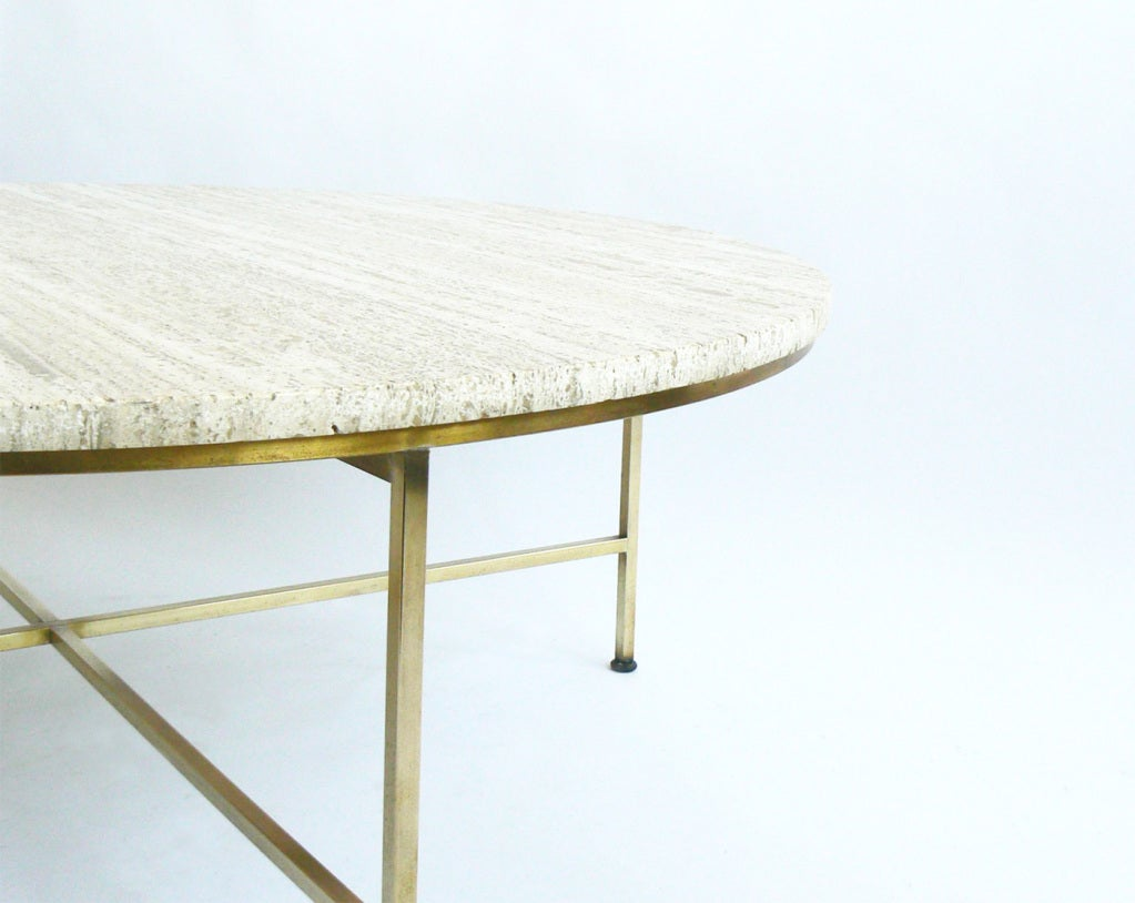 Travertine Topped Coffee Table By Paul McCobb For Directional Image 2