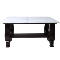 Scroll Base Marble Top Table