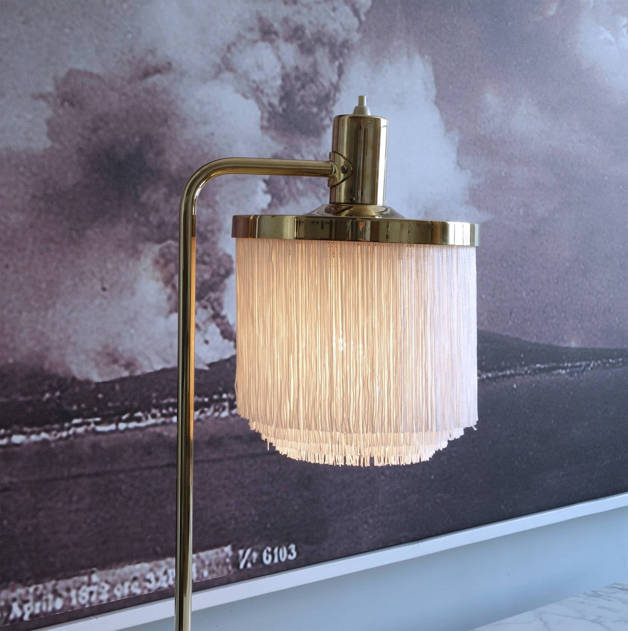 Pair of floor lamps produced by falkenbergs belysning ab in sweden at - Pair Of Brass And Silk Fringe Table Lamps By Hans Agne Jakobsson 2