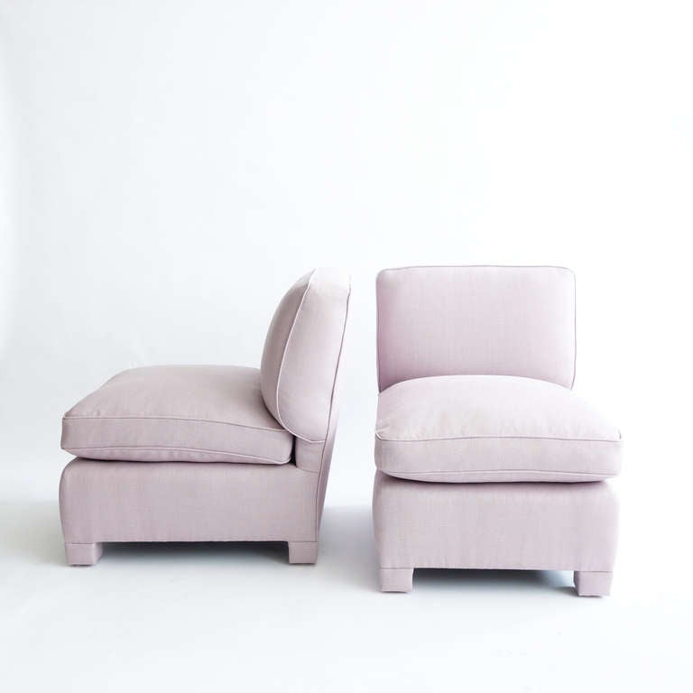 Pair Of Slipper Chairs Attributed To Billy Baldwin 2