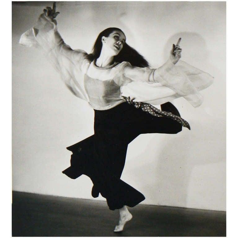 Barbara Morgan Photograph of Martha Graham
