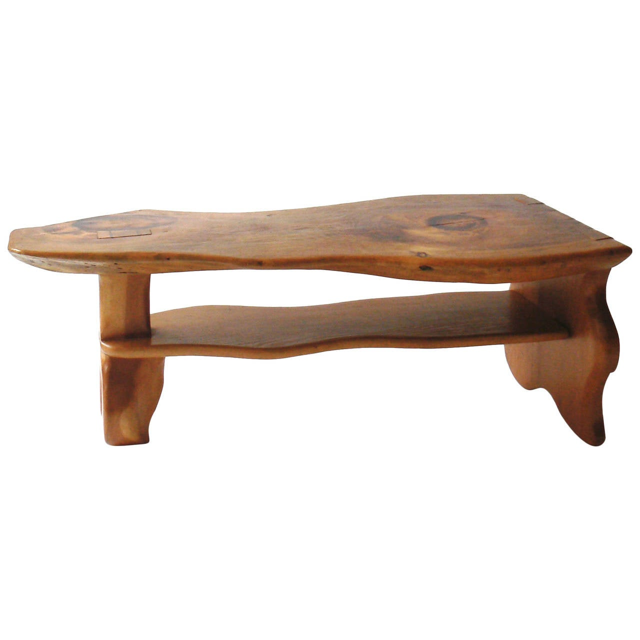 Carved live edge coffee table manner of alexandre noll for sale at 1stdibs Bench coffee tables