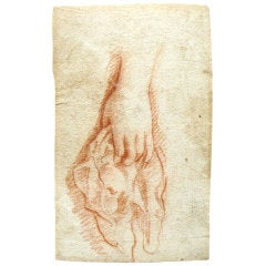 Study of a Lady's Hand Holding a Handkerchief