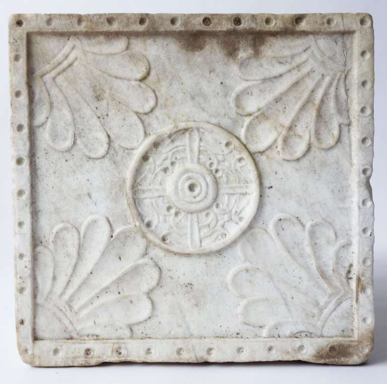 19th Century Carved Marble Planter For Sale