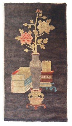 Antique Chinese Baotou Carpet