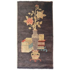 Antique Chinese Baotou Carpet