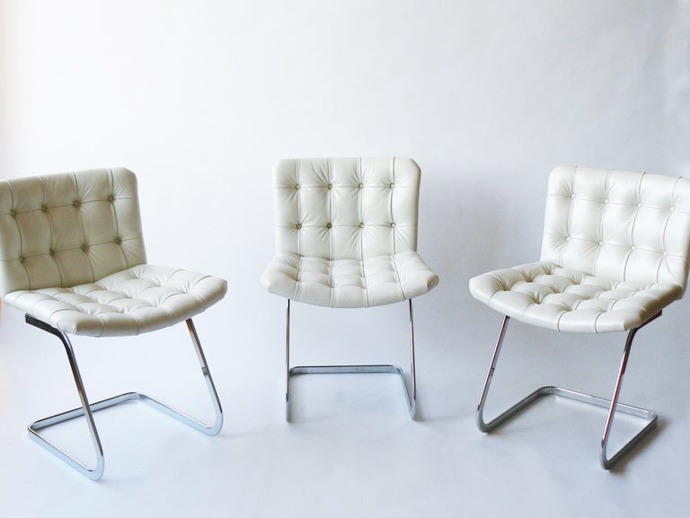 Set of Six Robert Haussmann Cantilevered Chairs for Stendig In Excellent Condition In New York, NY