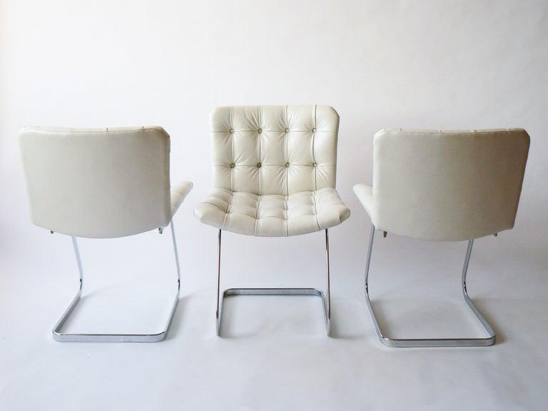 Swiss Set of Six Robert Haussmann Cantilevered Chairs for Stendig