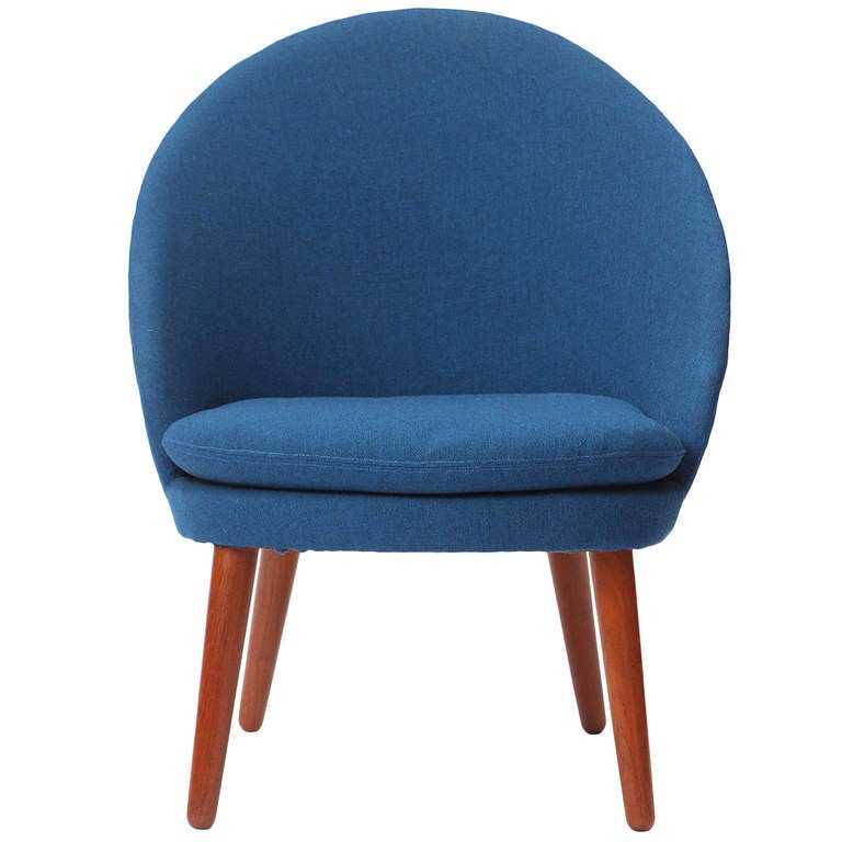 Danish Round-Back Lounge Chair For Sale At 1stdibs
