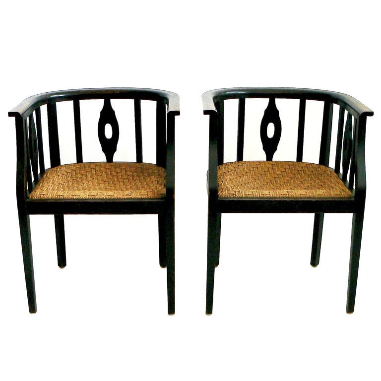 A Pair of Wilhelm Schmidt Chairs For Sale