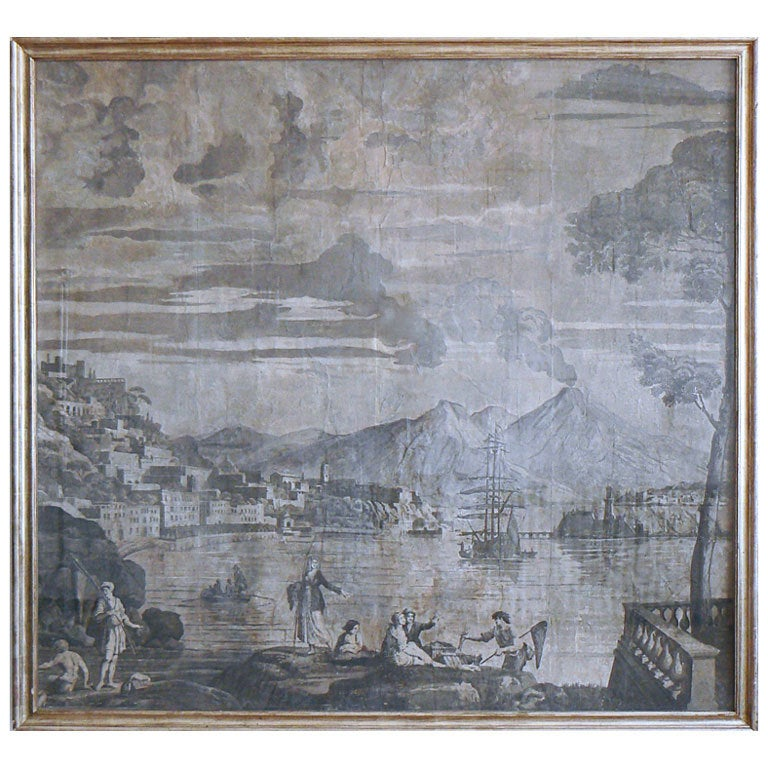 Wallpaper Panels Of The Bay Naples From Les Vues DItalie