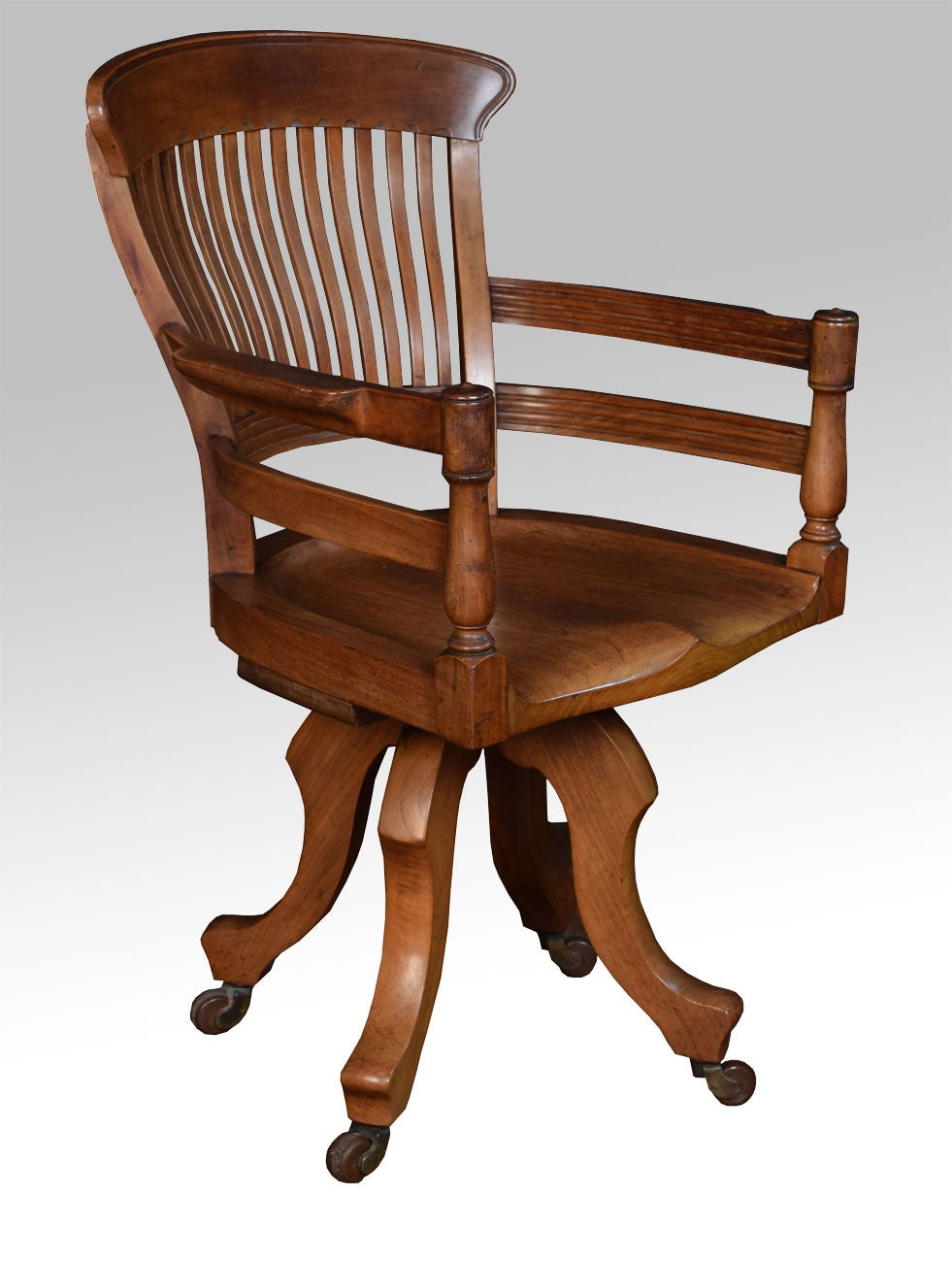 Walnut Office Captain S Revolving Desk Chair At 1stdibs