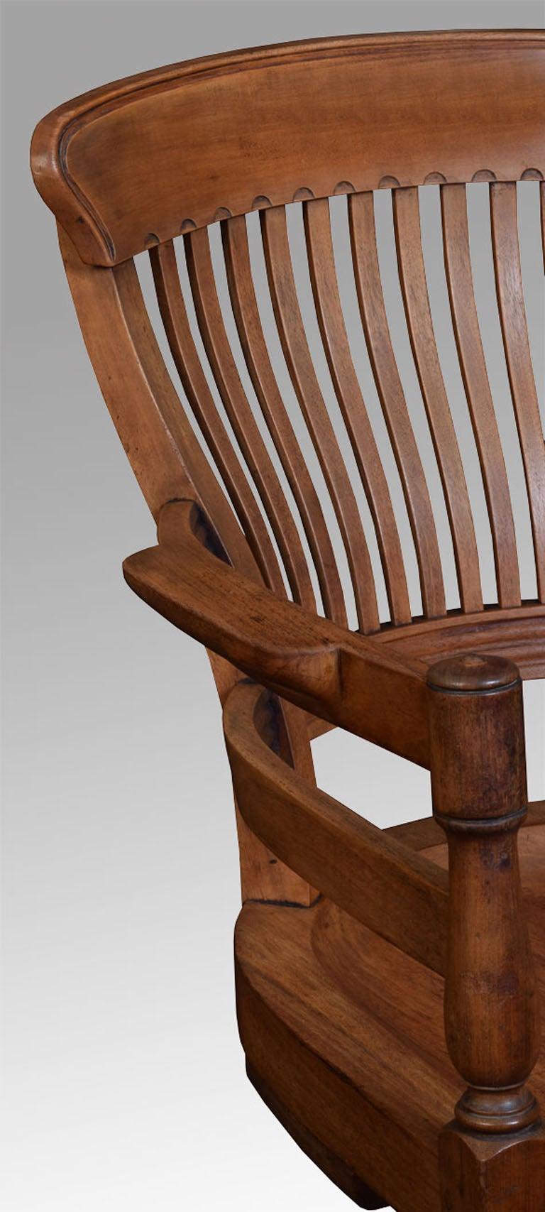 walnut office captain s revolving desk chair at 1stdibs