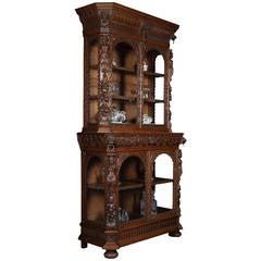 Late Victorian Oak Display Bookcase