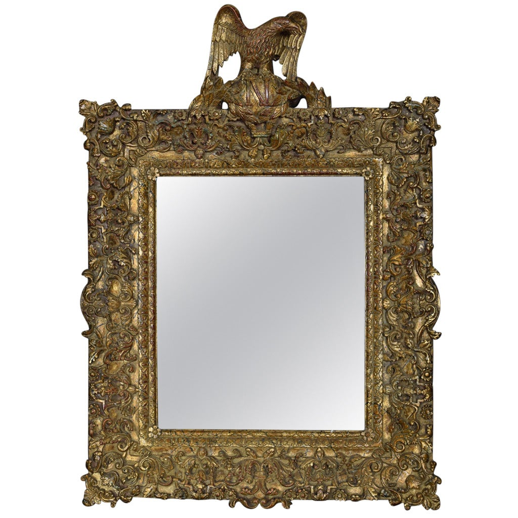 Large regency style gilt wall mirror for sale at 1stdibs for Big mirrors for sale