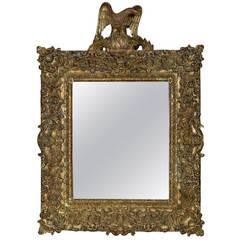 Large Regency Style Gilt Wall Mirror