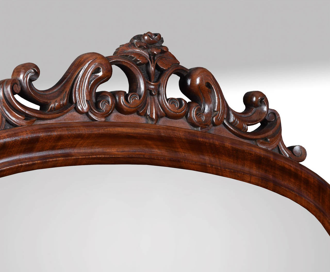 Mahogany cheval floor mirror